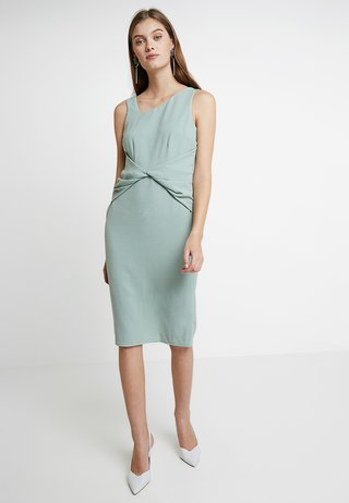 SLEEVELESS WAIST MANIPULATED DRESS - Shift dress - mint