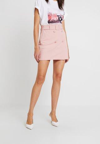 SELF BELT BUTTON - A-snit nederdel/ A-formede nederdele - pink