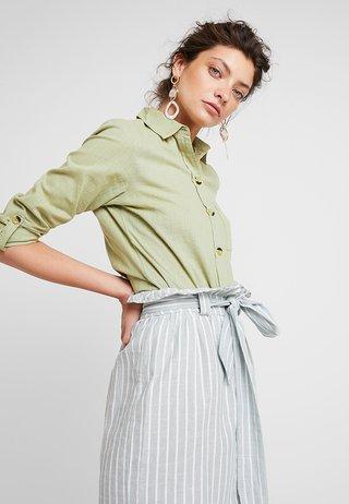 SLUB - Button-down blouse - green