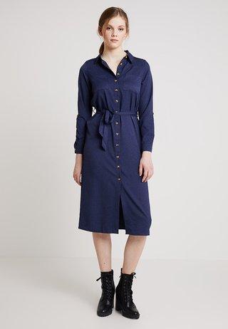 EXCLUSIVE BUTTON THROUGH DRESS - Maxi dress - navy