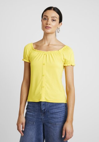 BUTTON THROUGH PLAIN MILKMAID - T-Shirt print - sunshine yellow