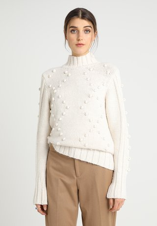 BOBBLE HIGH NECK JUMPER - Pullover - off-white