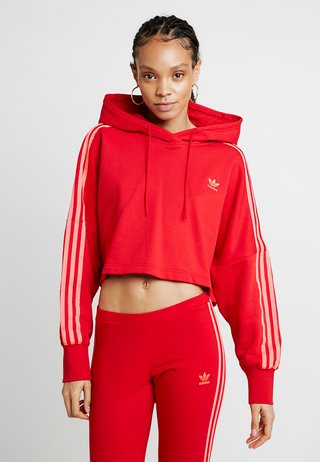 CROPPED HOOD - Sweat à capuche - red