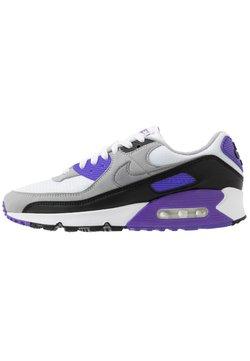 Nike Sportswear - AIR MAX 90 - Sneakersy niskie - white/particle grey/light smoke grey/black/hyper grape