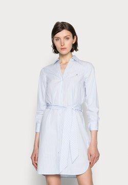 Tommy Hilfiger - MONICA KNEE SHIRT DRESS - Blusenkleid - blue