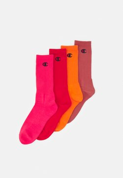 Champion - PASTEL CREW SOCKS 4 PACK UNISEX - Sportsocken - shades of red
