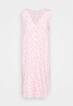 GAP - BUTTON SHIFT DRESS - Freizeitkleid - pink