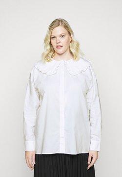Glamorous Curve - OVERSIZE COLLAR - Camicetta - white
