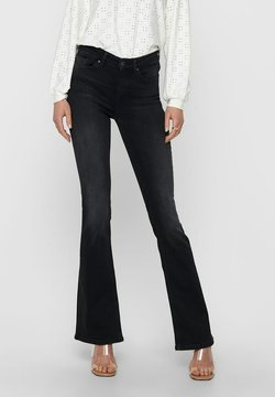 ONLY - MID RISE ONLBLUSH LIFE - Flared Jeans - black