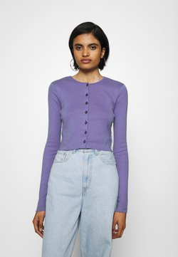 BDG Urban Outfitters - BUTTON DOWN CARDIGAN - Gilet - violet