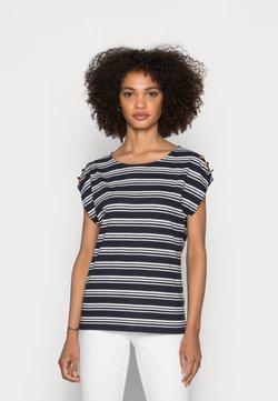 Esprit - BUTTON - T-Shirt print - navy