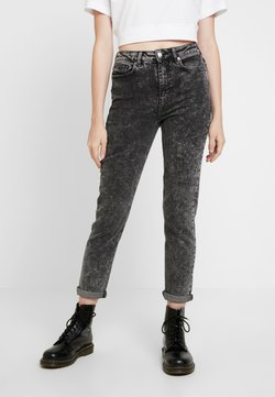 New Look - MOM SANTORINI - Relaxed fit jeans - black