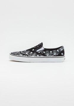 Vans - CLASSIC UNISEX - Loaferit/pistokkaat - black/true white