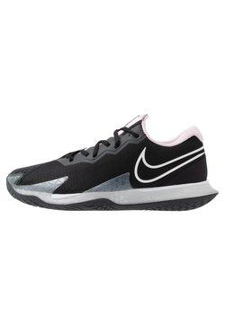 Nike Performance - AIR ZOOM VAPOR CAGE 4 - Zapatillas de tenis para todas las superficies - black/white/pink foam/dark smoke grey