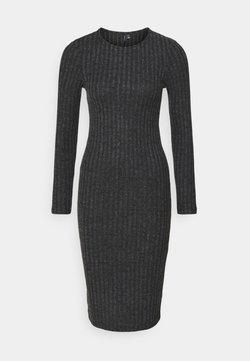 Vero Moda Petite - VMTAMIKA FITTED DRESS - Robe pull - dark grey melange