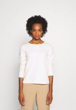 Marc O'Polo - LONGSLEEVE BASIC WITH ROUNDNECK - Strickpullover - off white