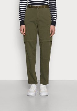 Tommy Hilfiger - BLEND TAPERED PANT - Trousers - olivewood