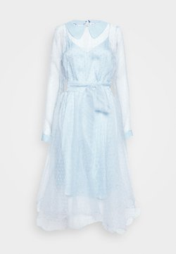 Custommade - LIDI DRESS - Vestido de cóctel - chambray blue