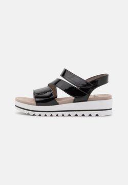 Jana - WOMS  - Korkeakorkoiset sandaalit - black