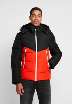 TOM TAILOR DENIM - HEAVY PUFFER JACKET - Winterjacke - tango orange