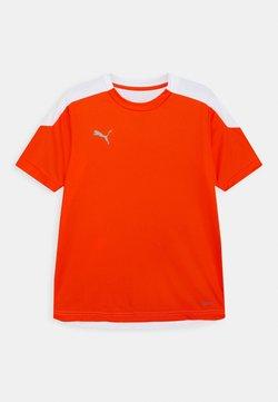 Puma - FTBLNXT UNISEX - Print T-shirt - shocking orange/white