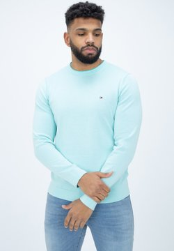 Tommy Hilfiger - TIPPED DOUBLE FACE - Strickpullover - oxygen