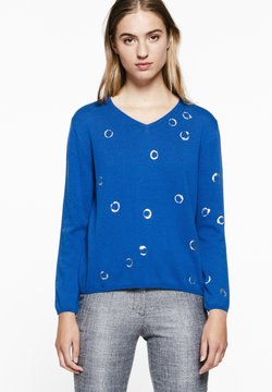 A ka so - NASRO RIRI - Strickpullover - saphire blue