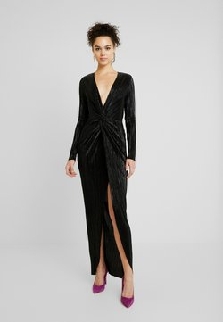 Nly by Nelly - TWISTED SHINY GOWN - Ballkleid - black