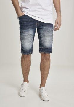 Southpole - SOUTHPOLE HERREN BIKER DENIM SHORTS - Jeans Shorts - dk.sand blue