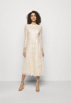 Needle & Thread - AURELIA LONG SLEEVE BALLERINA DRESS - Iltapuku - champagne