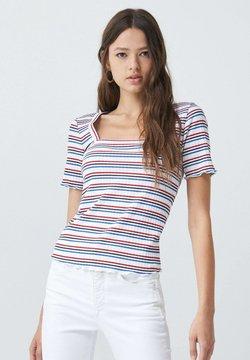 Salsa - FRANCE BODYCON - T-Shirt print - blue / red / white