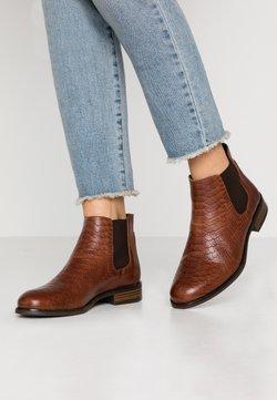 Anna Field - LEATHER CHELSEAS - Boots à talons - cognac