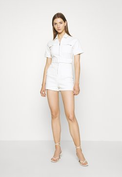 Missguided - SELF BELTED PLAYSUIT - Haalari - white