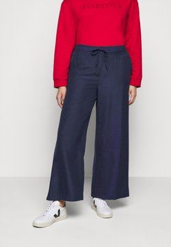 Simply Be - EASY CARE WIDE - Stoffhose - navy