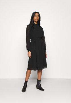ONLY - ONLANNELENA HIGHNECK SMOCK DRESS - Korte jurk - black
