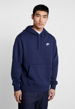 Nike Sportswear - Club Hoodie - Sweat à capuche - midnight navy/white
