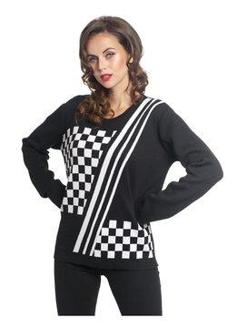 Pussy Deluxe - Strickpullover - schwarz weiß