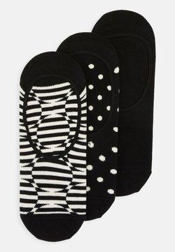 Happy Socks - OPTIC DOT LINER SOCK 3 PACK - Chaussettes - black
