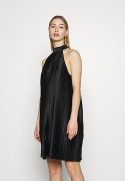 NU-IN - PLEATED HALTER NECK MINI DRESS - Sukienka koktajlowa - black