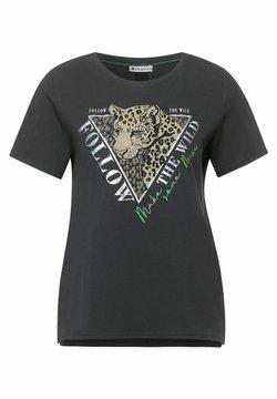 Street One - MIT LEO-MOTIV - T-Shirt print - grau