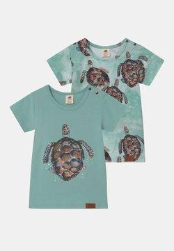 Walkiddy - SEA TURTLES 2 PACK UNISEX - T-shirt print - blue