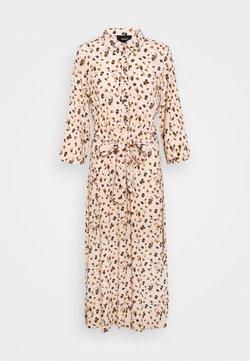 Object - OBJNELLE 3/4 LONG SHIRT DRESS - Blusenkleid - sandshell
