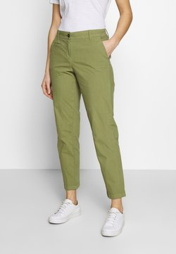 Marc O'Polo - PANTS FIT MEDIUM RAISE - Chinot - seaweed green