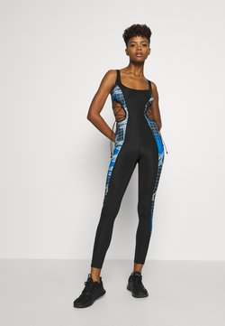 Jaded London - SQUARE NECK PRINTED CATSUIT WITH CUT OUT - Combinaison - multi coloured