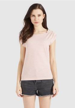 khujo - KAROLA - T-Shirt print - weiß rot gestreift