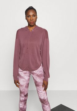 Free People - BACK INTO IT HOODIE - Jersey con capucha - dark red