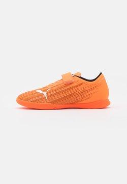Puma - ULTRA 4.1 IT JR UNISEX - Zaalvoetbalschoenen - shocking orange/black