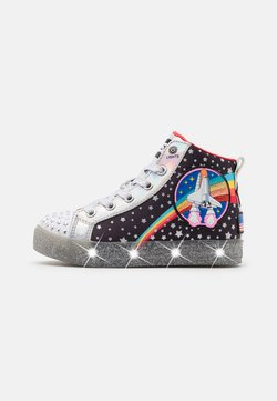 Skechers - SHUFFLE BRIGHTS - Sneaker high - black/multicolor/silver