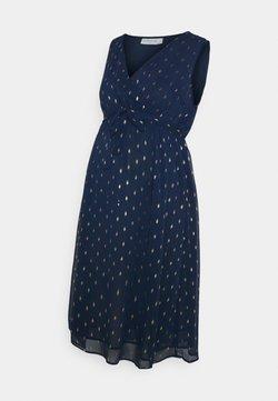 JoJo Maman Bébé - PRINT WRAP DRESS - Vestito estivo - navy