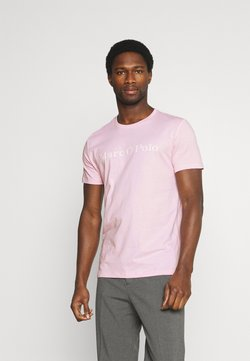 Marc O'Polo - SHORT SLEEVE CLASSIC - T-Shirt print - mauve/chalk